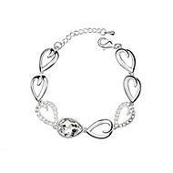 billige -Dame Kæde & Lænkearmbånd Krystal Legering Mode Personaliseret Smykker Smykker 1 Stk.