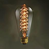 e27 40w st64 træ kreativ edison lyskilde høj kvalitet