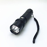 Lanternas LED LED 800 lm 3 Modo LED Com Pilha e Carregador Zoomable Foco Ajustável Impermeável Tamanho Compacto Super Leve Campismo /