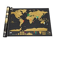 cheap Office Supplies-Scratch Map Deluxe Edition Travel Vacation Personalized Log Scratch off World Laminate(USLUKSD)