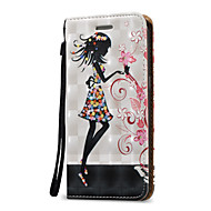 cheap Cases / Covers for Samsung-Case For Samsung Galaxy S7 edge S7 Card Holder Wallet Flip Full Body Cases Sexy Lady Hard PU Leather for S7 edge S7 S6 edge plus S6 edge