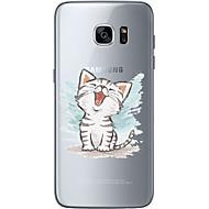 Для Ультратонкий Прозрачный С узором Кейс для Задняя крышка Кейс для Кот Мягкий TPU для Samsung S7 edge S7 S6 edge plus S6 edge S6