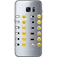 Недорогие Чехлы и кейсы для Galaxy S7-Кейс для Назначение SSamsung Galaxy S7 edge S7 Ультратонкий Прозрачный С узором Кейс на заднюю панель Мультипликация Мягкий ТПУ для S7