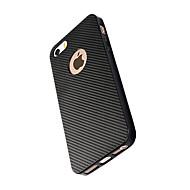 Недорогие Кейсы для iPhone 8-Кейс для Назначение Apple iPhone X iPhone 8 Защита от удара Кейс на заднюю панель Сплошной цвет Мягкий Углеродное волокно для iPhone X