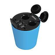 hasmine автомобильное зарядное устройство пять портов автомобиля гнездо адаптера USB зарядное устройство