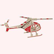 Χαμηλού Κόστους Αξεσουάρ για παιχνίδια και χόμπι-Ξύλινα παζλ Αεροσκάφος Διάσημο κτίριο Κινεζική αρχιτεκτονική Ελικόπτερο Σπίτι επαγγελματικό Επίπεδο Ξύλο 1pcs Ελικόπτερο Παιδικά