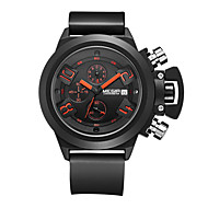 Недорогие Фирменные часы-MEGIR Муж. Спортивные часы / Армейские часы / Наручные часы Календарь / Секундомер / Защита от влаги силиконовый Группа Кулоны / На каждый день / Мода Черный / Белый / Нержавеющая сталь