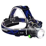 お買い得  フラッシュライト/ランタン/ライト-1600 lm lm ヘッドランプ LED 3 モード ズーム可能 / 防水 / 焦点調整可