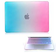 """jó minőségű kemény védő matt gradiens színű testes esetben és TPU billentyűzet fedél MacBook 12 """""""
