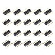 abordables Conectores-Conector de conector macho 20 pines 4 pines para 3528 5050 smd rgb led tira de iluminación
