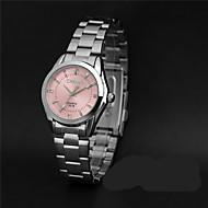 LONGBO 여성용 패션 시계 모조 다이아몬드 시계 석영 / 모조 다이아몬드 합금 밴드 캐쥬얼 실버