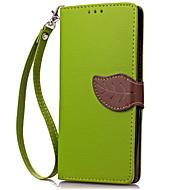 Για Πορτοφόλι Θήκη καρτών tok Πλήρης κάλυψη tok Μονόχρωμη Σκληρή Συνθετικό δέρμα για HuaweiHuawei Y600 Huawei Υ6 / Honor 4Α Huawei Y336