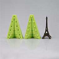olcso Konyhai eszközök-két szilikon öntőformák összeszerelésére, hogy egy 3D-s Eiffel torony fondant torta dekoráció öntőforma szerszámok színes random