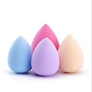 4Pcs Water Droplets Puff Multicolor 34X46Mm Hot Beauty Makeup Sponge Sponge Puff Puff Color Random
