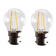 2W B22 LED Λάμπες Πυράκτωσης G45 2 leds COB Με ροοστάτη Θερμό Λευκό 160-200lm 2700-3500K AC 220-240 AC 110-130V