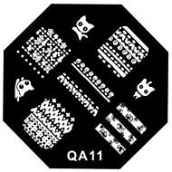 abordables Estampados de Uñas-uñas arte del sello de placa plantilla de la imagen de estampado