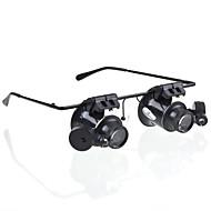 お買い得  双眼鏡-20 X 虫眼鏡 ジェネリック / ヘッドセット ジュエリー / 一般用途向け / 紙幣鑑別機 マルチコーティング センターフォーカス プラスチック