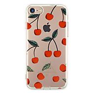 Назначение iPhone X iPhone 8 iPhone 7 iPhone 7 Plus iPhone 6 Чехлы панели Ультратонкий С узором Задняя крышка Кейс для Фрукты Мягкий