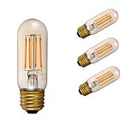 お買い得  -GMY® 4本 3.5W 300lm E26 フィラメントタイプLED電球 T 4 LEDビーズ COB 調光可能 装飾用 アンバー 110-130V