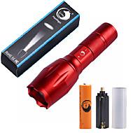 U'King LED taskulamput LED 2000 lm 5 Tila Cree XM-L T6 Akulla Zoomable Säädettävä fokus Himmennettävissä Kompakti koko