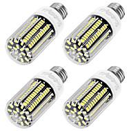 お買い得  LED コーン型電球-YouOKLight 4本 1100lm E26 / E27 LEDコーン型電球 T 136 LEDビーズ SMD 5733 装飾用 温白色 220-240V