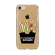 Назначение iPhone X iPhone 8 iPhone 7 iPhone 6 Кейс для iPhone 5 Чехлы панели Прозрачный С узором Задняя крышка Кейс для Продукты питания