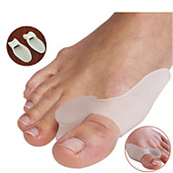 A Pair Of Silicone Gel Bunion Splint Big Toe Separator Overlapping Spreader Protection Corrector Hallux Valgus Foot Massager