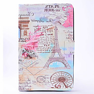 For Samsung Galaxy Tab T580 T350 PU Leather Material Tower Pattern Painted Flat Protective Cover T550 T560 T280