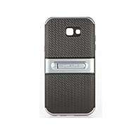 Недорогие Чехлы и кейсы для Galaxy A5(2017)-Кейс для Назначение SSamsung Galaxy A7(2017) A5(2017) со стендом Кейс на заднюю панель Однотонный Мягкий ПК для A5 (2017) A7 (2017)