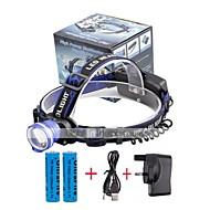 お買い得  フラッシュライト/ランタン/ライト-U'King ヘッドランプ 自転車用ヘッドライト LED LED 2000 lm 3 照明モード バッテリー&チャージャー付き ズーム可能, アラーム, 焦点調整可 キャンプ / ハイキング / ケイビング, 日常使用, サイクリング