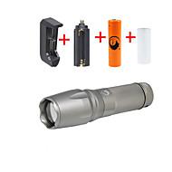 U'King LED Lommelygter Lommelygtesæt LED 2000 lm 5 Tilstand Cree XM-L T6 Justerbart Fokus Camping/Vandring/Grotte Udforskning Dagligdags