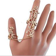 お買い得  -女性用 指輪 - ラインストーン, イミテーションダイヤモンド, 合金 バラ, フラワー ぜいたく, 欧米の ワンサイズ ゴールド 用途 パーティー / 日常 / カジュアル