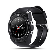 V8 Smartwatch Android Bluetooth Kosketusnäyttö Handsfree puhelut Kamera Etäseuranta Askelmittari Kauko-ohjain Liikuntamittari Activity Tracker Sleep Tracker / 0,3 MP / sedentaarisia Muistutus