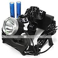 preiswerte Taschenlampen, Laternen & Lichter-U'King Stirnlampen Schweinwerfer LED 2000 lm 3 Modus LED inklusive Batterien Zoomable- einstellbarer Fokus Kompakte Größe Einfach zu