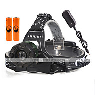U'King Torce frontali Faro anteriore LED 2000 lm 3 Modo Cree XM-L T6 con batterie e caricabatterie Zoom disponibile Multiuso Compatta
