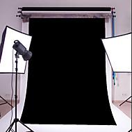 3x5ft mince noir photographie vinyle studio toile de fond photo prop fond