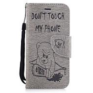 아이폰 xr xs xs 최대 지갑 / 카드 소지자 / 스탠드 케이스 용 동물 하드 폴리 우레탄 가죽 iphone 7 plus / iphone 7 / iphone 6s plus