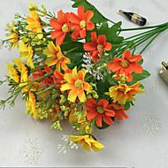 Demet küçük papatya yapay çiçek başına 34.5cm uzunluğu, yüksek kaliteli ve parlak rengin 28 kafaları