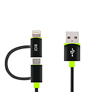 MFI 2 in 1 Micro USB Data Cable Charge Cable for Apple iPhone X 8 7 6s 6 Plus SE 5s 5c 5 iPad 4 mini Android Smart Phone