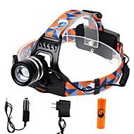 U'King Linternas de Cabeza Faro Delantero LED 1000 lm 3 Modo Cree XM-L T6 con pila y cargadores Zoomable Enfoque Ajustable Fácil de
