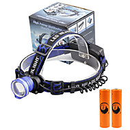U'King Headlamps Headlight LED 2000 lm 3 Mode Cree XM-L T6 with Batteries Zoomable Alarm Adjustable Focus Compact Size Easy Carrying High