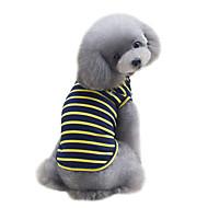 halpa -Koira T-paita Liivi Koiran vaatteet Raita Keltainen Punainen Vihreä Puuvilla Asu Lemmikit Sievä Muoti Urheilu