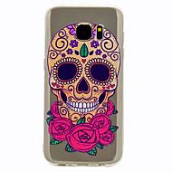お買い得  携帯電話ケース-ケース 用途 Samsung Galaxy S8 Plus S8 クリア パターン バックカバー スカル ソフト TPU のために S8 Plus S8 S7 edge S7 S6