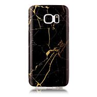 billige Galaxy S4 Etuier-Etui Til Apple S7 edge S7 IMD Bagcover Marmor Blødt TPU for S7 edge S7 S6 edge S6 S5 S4 S3