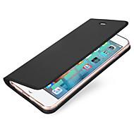 Käyttötarkoitus iPhone X iPhone 8 kotelot kuoret Korttikotelo Flip Magneetti Kokonaan peittävä Etui Yhtenäinen väri Kova PU-nahka varten