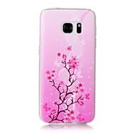 Capinha Para Samsung Galaxy S7 edge S7 Estampada Capa Traseira Árvore Macia TPU para S7 edge S7