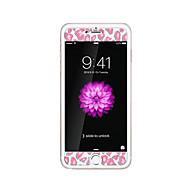 iPhone 6 / 6s plus 5.5inch karkaistu lasi läpinäkyvä edessä näytön suojakalvon kanssa emboss piirretty kuvio loistaa pimeässä leopardi