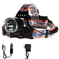 U'King Lanternas de Cabeça Farol Dianteiro LED 2000 lm 3 Modo Cree XM-L T6 Fácil de Transportar para Campismo / Escursão / Espeleologismo