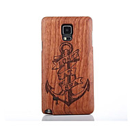 For Samsung Galaxy Note4 Note5 Case Cover Anchor Pattern Case Hard Pear Wooden Back Cover Case