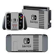 お買い得  -B-SKIN Nintendo Switch / NS ステッカー 用途 任天堂スイッチ 、 パータブル / アイデアジュェリー ステッカー ビニール 1 pcs 単位